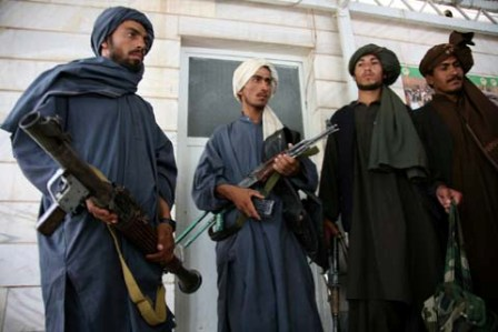 Facts about Afghanistan War - Insurgents laying down weapons