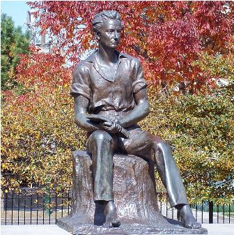 Facts about Abraham Lincoln - Young Lincoln statue