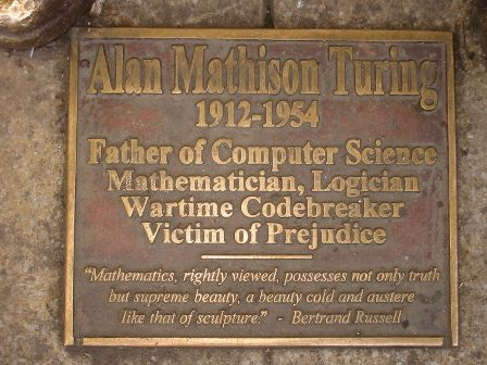 Facts about Alan Turing - Sackville Turing plaque