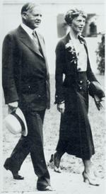 Amelia Earhart and President Hoover