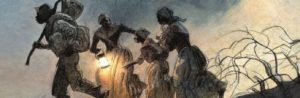 Slaves escaped from South through underground railroad