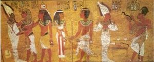 Wall painting in tomb