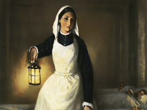 The lady of the lamp