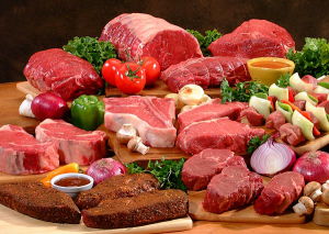Meat of different animals