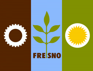 The flag of Fresno, California