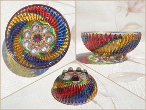 Bowls from stained glass