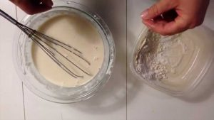 Wheat flour and paper to make glue