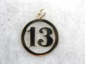 Number 13 charm