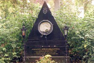 The grave of Johann Strauss