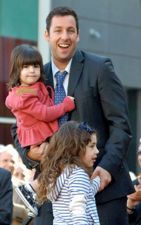 Facts about Adam Sandler - Adam Sandler with Daughters