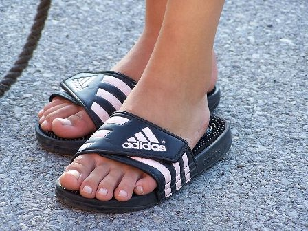 Facts about Adidas - Pair of Adidas sandals