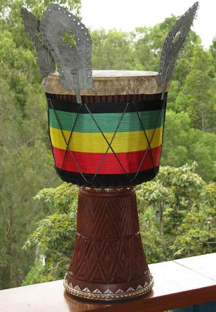 Facts about African drumming - Decorated Djembe