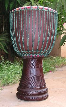 Facts about African drumming - Djembe with two-ring mounting