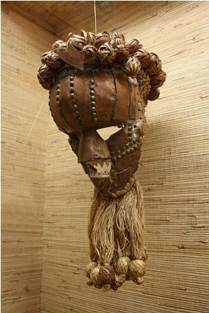 Facts about African masks - Wood and copper mask