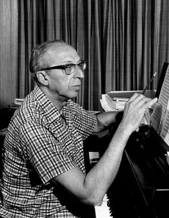 Facts about Aaron Copland - Aaron Copland writing