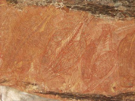 Facts about Aboriginal art - Baramundi rock art