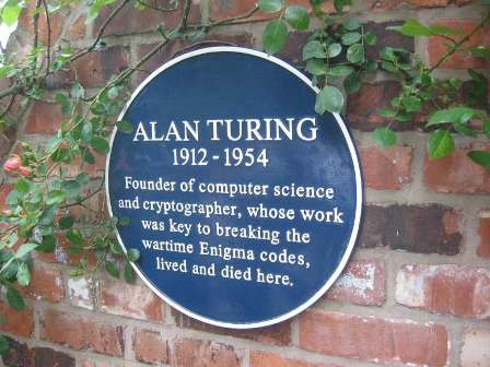 Facts about Alan Turing - Blue plaque