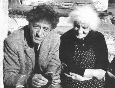 Facts about Alberto Giacometti - With his mother