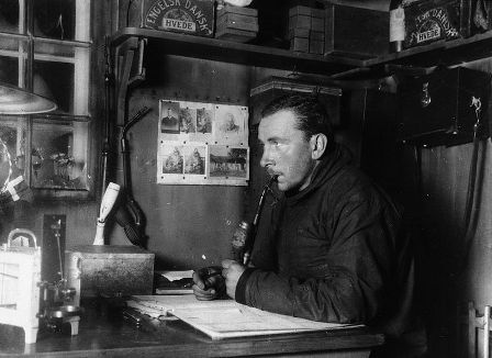 Facts about Alfred Wegener - Wegener during expedition