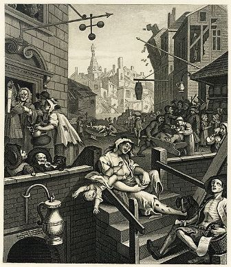 Facts about alcoholism - William Hogarth's painting