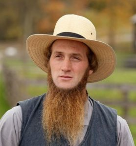 Amish man with his beard