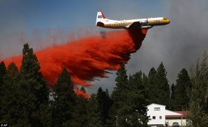 The technique to controll the forest fires (airdrop)