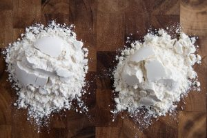 Bleached and unbleached flour