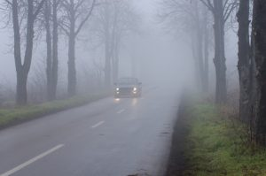 The danger of driving in the fog