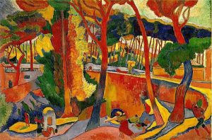An example of fauvism colors