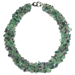 Fluorite gemstone necklace