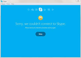 Internet connection is needed to use skype