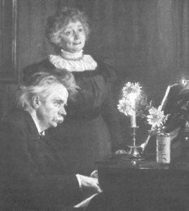 Edvard Grieg and his wife, Nina Grieg