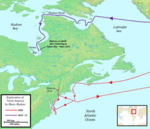 Henry Hudson Map