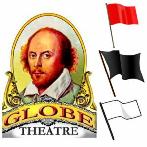 The flags of the Globe Theatre Shakespeare