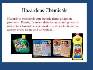 Hazardous chemicals in the glue