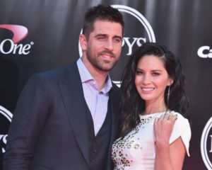Aaron Rodgers and Olivia Muun