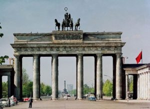 The central arch of the Brandenburg gate