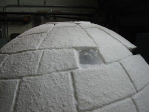Igloo with a window