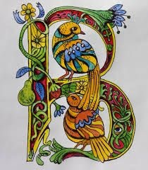 The decoration of illuminated letter
