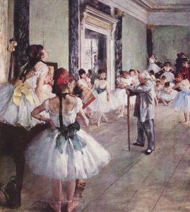 Edgar Degas, The Ballet Lesson, (1875)