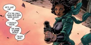 Sana Solo, the wife of Han Solo in the comic of Star Wars