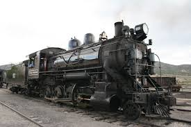 A steam engine locomotive