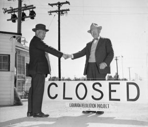Japanese internment camp was closed gradually