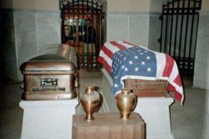 James A. Garfield's casket