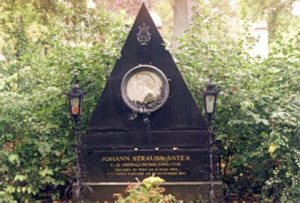 The grave of Johann Strauss