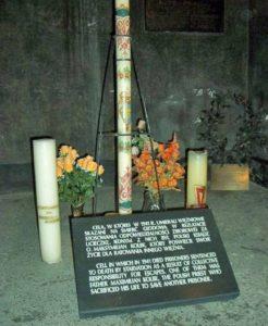 The cell of Maximilian Kolbe