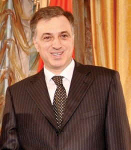 Filip Vujanovic, the president of Montenegro