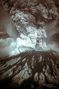 The eruption of Mount St Helens