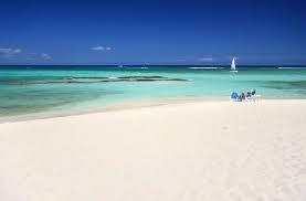 White sand in the Cancun Beach