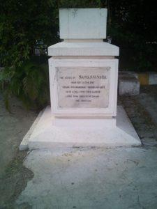 The ashes of Sarojini Naidu